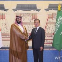 文, 사우디 오일머니 10조원 유치…재계 총출동