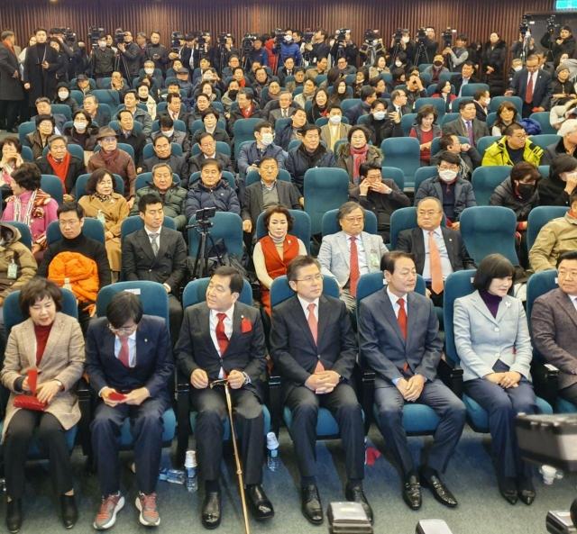 미래한국당 창당대회에 참석한 황교안 대표
